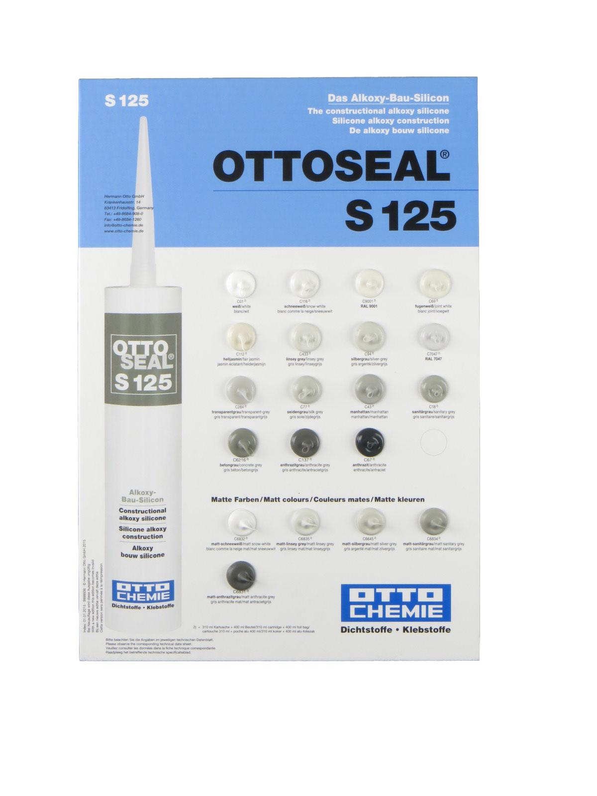 Zeer Ottoseal ® S125 310ml - Siliconenkit / Sanitairkit: Siliconenkit JU55